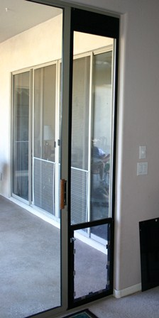 A Sliding Glass Patio Dog Door Is A Great Solution For Renters